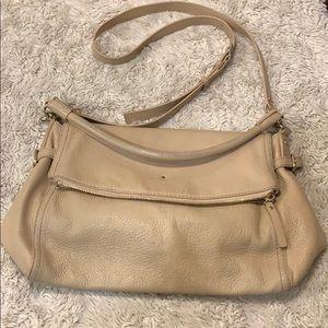 kate spade tan leather crossbody bag | used